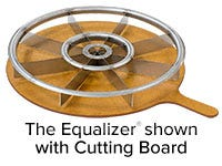 The Equalizer Pizza Cutter with Board